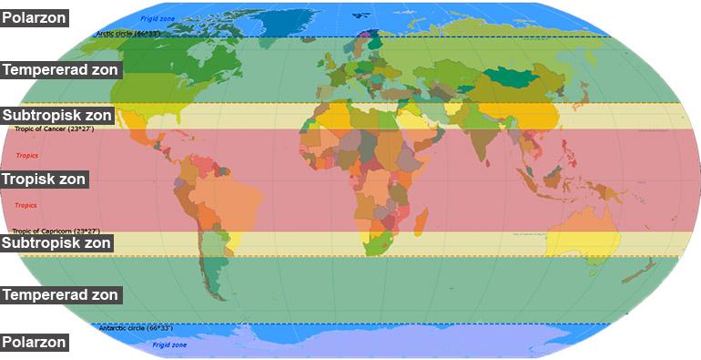 Vaxtlighet Och Vatten Geografi So Rummet