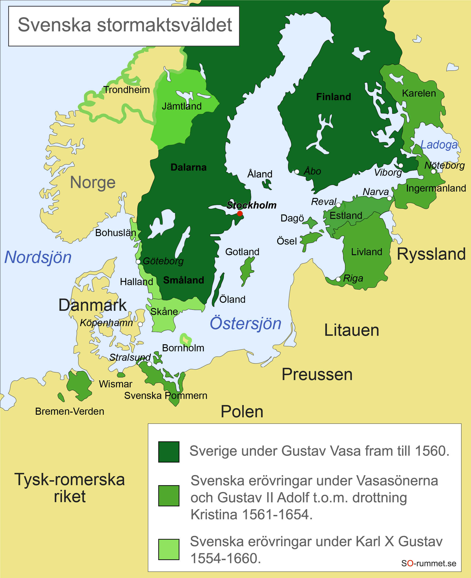 Karta Over Sveriges 25 Landskap.Stormaktstidens Sverige Nya Tiden Historia So Rummet