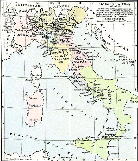 Gammal Karta Italien.Norra Italien Karta