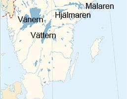 Sveriges Storsta Sjoar Vanern Vattern Malaren Och Hjalmaren