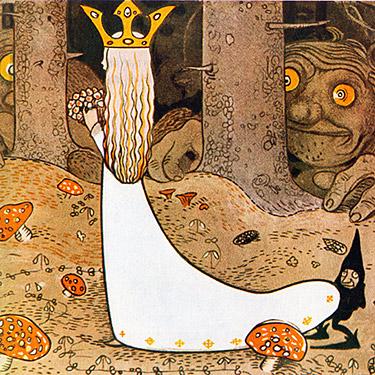 tecknad kön prinsessa